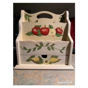 Other - 🍎🍐Apples & Pears Country Wooden Mailbox🍐🍎